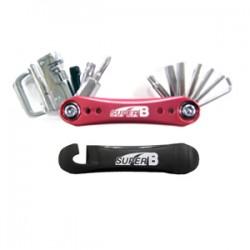 SUPER B 18合1折疊修車工具(紅色)
